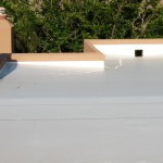 Building with TPO Roofing Installed North VA White Coating