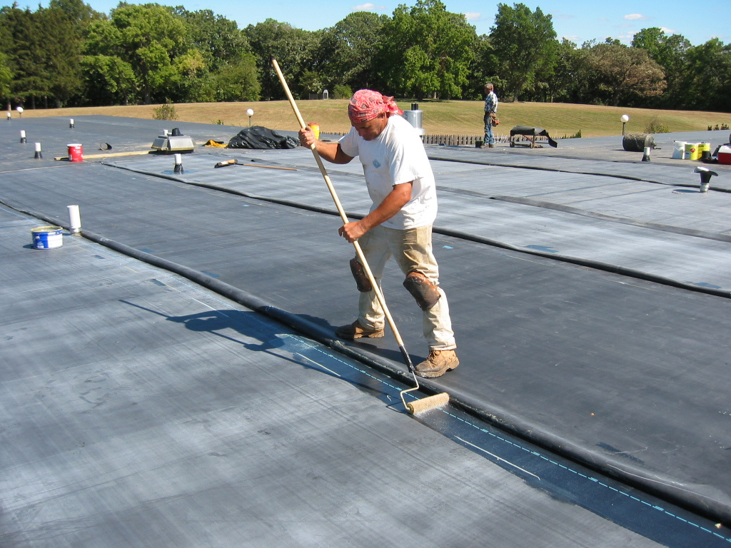 EPDM Roofing on Commercial Roof North VA