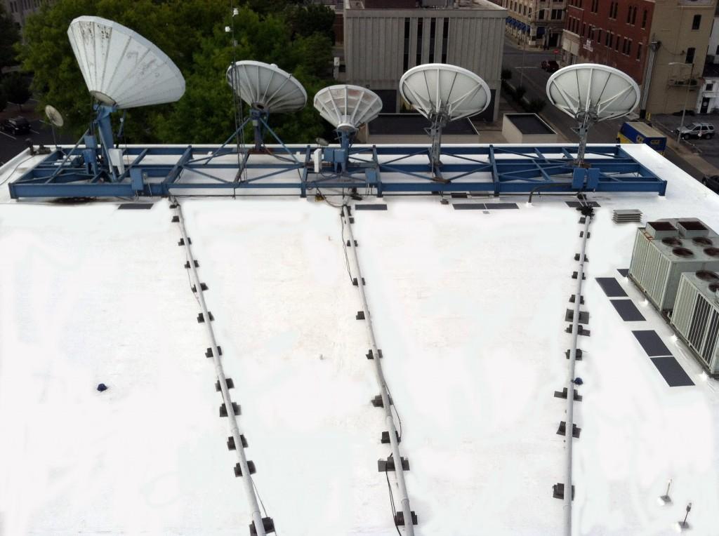 North VA PVC Roofing Satellites