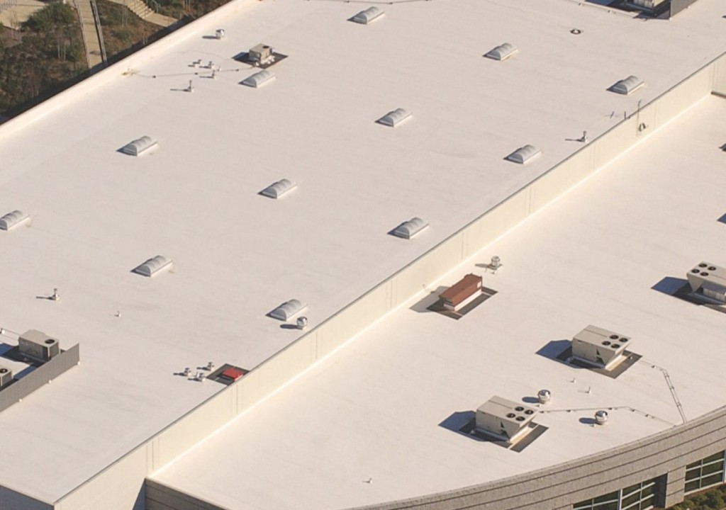 PVC Roofing System Large Commercial Building