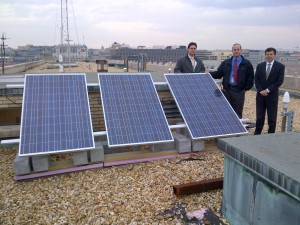 Solar Panels Commercial Roof Presentation Wash DC