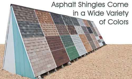 Variety Of Colors Asphalt Shingles